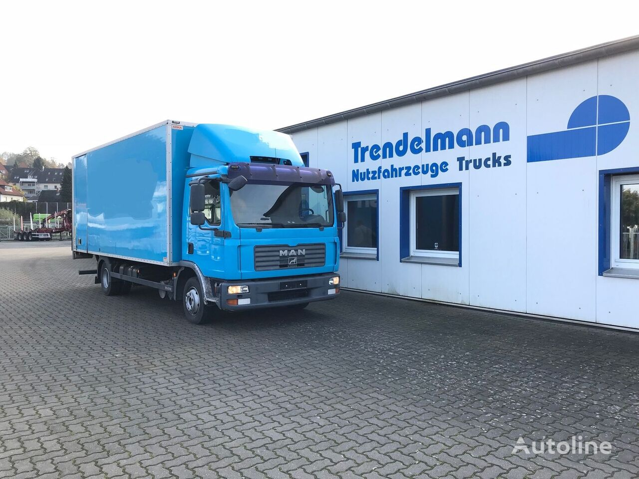 MAN TGL 8.180 Koffer Box LBW 1500 KG box truck