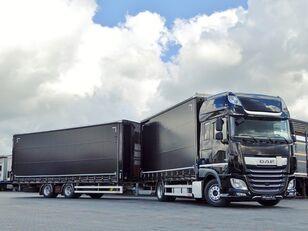 DAF XF 450  curtainsider truck + curtain side trailer