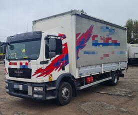 MAN TGM 15.250 from FR, 214000 km curtainsider truck
