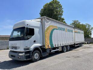 RENAULT Premium 420 curtainsider truck + curtain side trailer