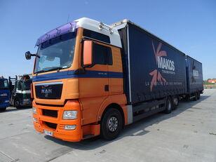 MAN TGX 18.480 / RETARDER / XXL / 13 L / FRENCH CAR / / / curtainsider truck + curtain side trailer