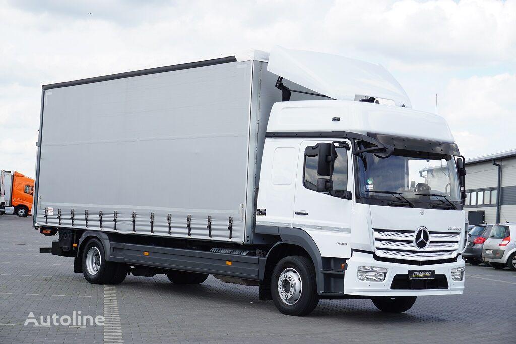 MERCEDES-BENZ / ATEGO / 1224 / ACC / EURO 6 / FIRANKA + WINDA / MAŁY PRZEBIEG  curtainsider truck