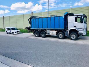MERCEDES-BENZ AROCS 4152 $-Achser 8X8 Allrad mit Ladekran am Heck flatbed truck