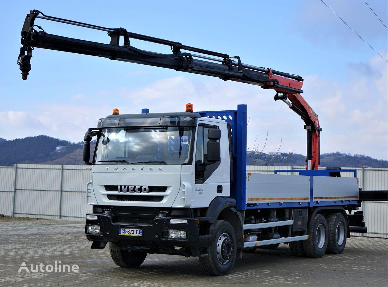 IVECO TRAKKER 360 Pritsche 6,70m+ Kran/FUNKTopzustand! flatbed truck