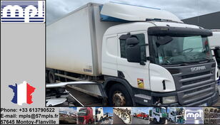 damaged SCANIA P340 refrigerated truck