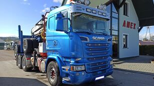 SCANIA R 500 timber truck + timber trailer